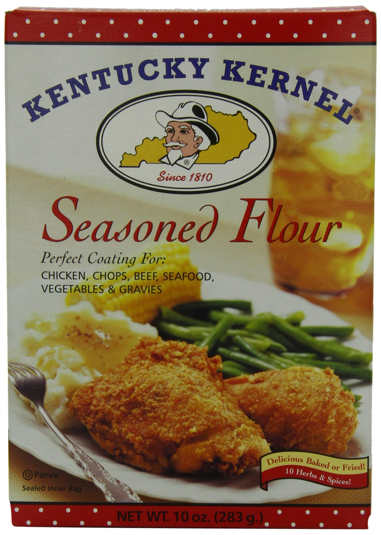 Kentucky Kernel Seasoned Flour, 10-Ounce (Pack of 12)