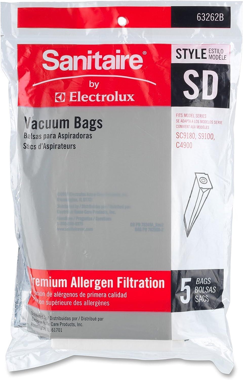 Sanitaire Eureka 63262B10CT Vacuum Replacement Bags, f/SC9150/9180, 50/CT, WE