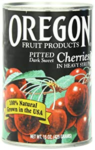 Oregon Fruit Products Dark Sweet Cherries in Heavy Syrup, 15 Ounce (Pack of 8)