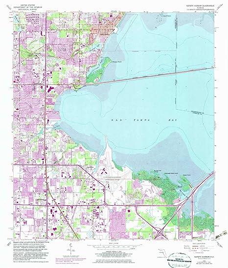 Amazon.com : YellowMaps Safety Harbor FL topo map, 1:24000 ...