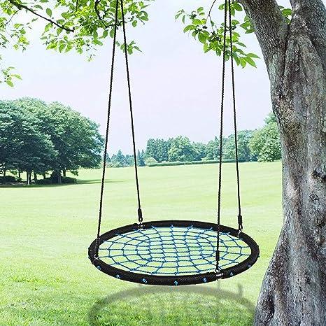 Amazon Com Utheing Outdoor Tree Hanging Swing Sets Round Net Swing