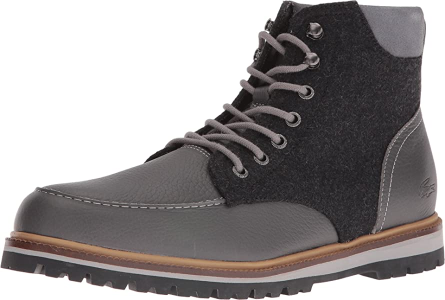 256239945cdeae Lacoste Men s Montbard Boot 316 2 Dark Grey 7.5 ...