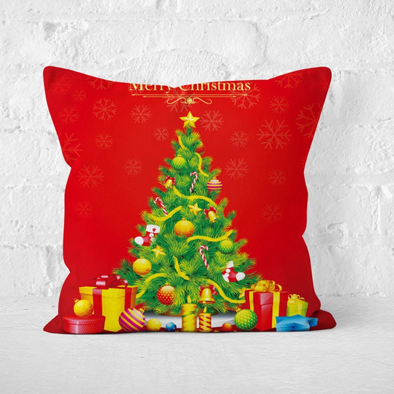 Amazon Merry Christmas Pillow Case Cotton Linen Square