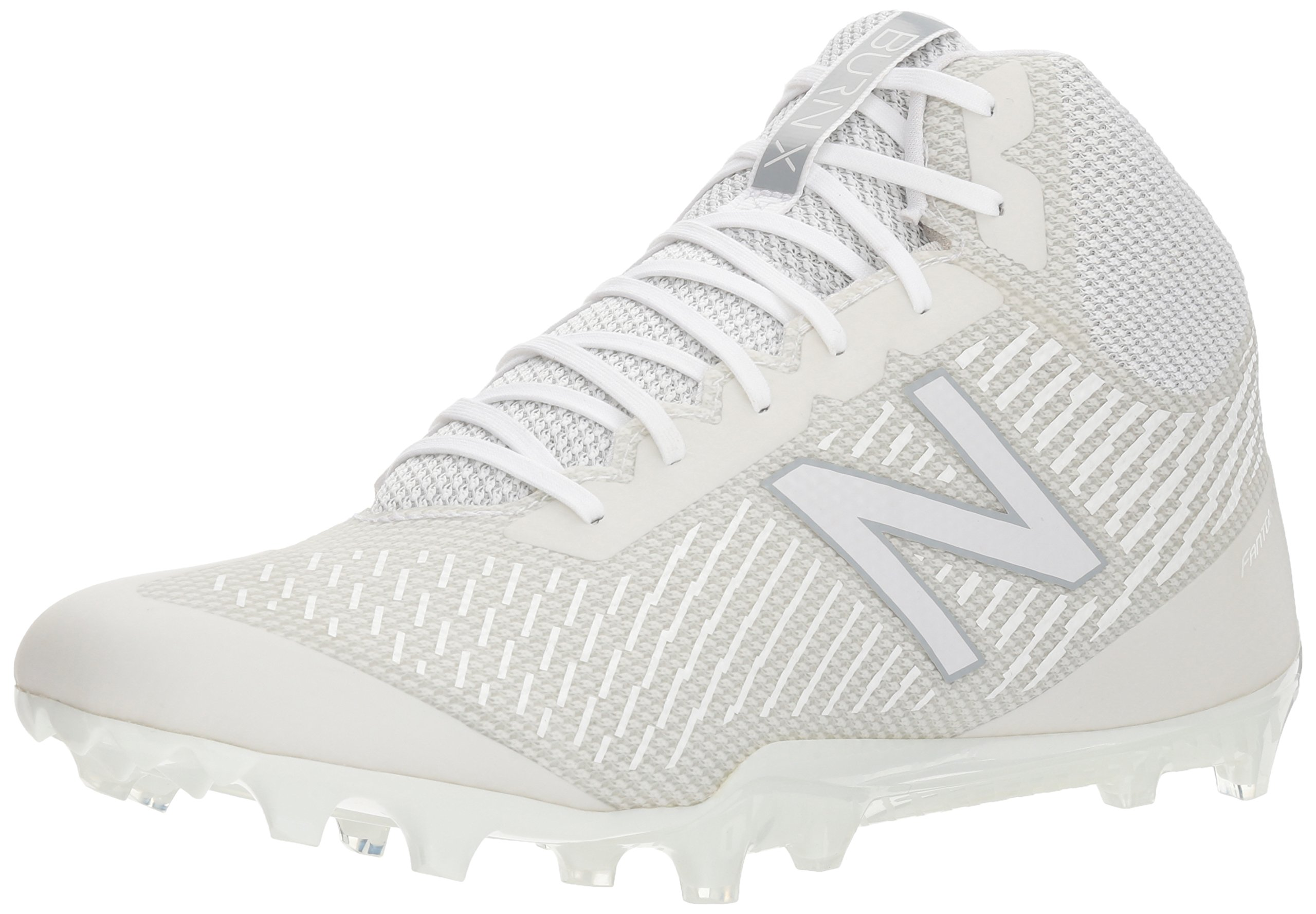 New Balance Men's Burn Mid Speed Lacrosse Shoe, White, 12.5 2E US by New Balance