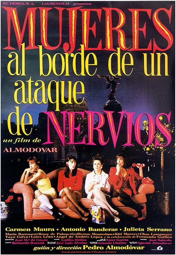 Empire 80677 Póster de película de Manga Corta para Mujer en el Borde de un colapso nervioso versión española 70 x 100 cm: Amazon.es: Hogar