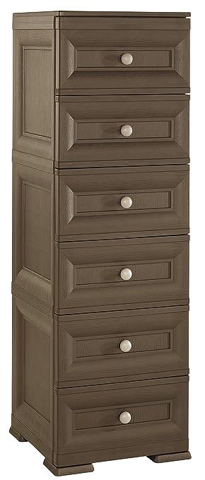 Tontarelli 8086061909 Omnimodus - Cajonera de 6 cajones (40 x 43 x 125 cm), Color marrón