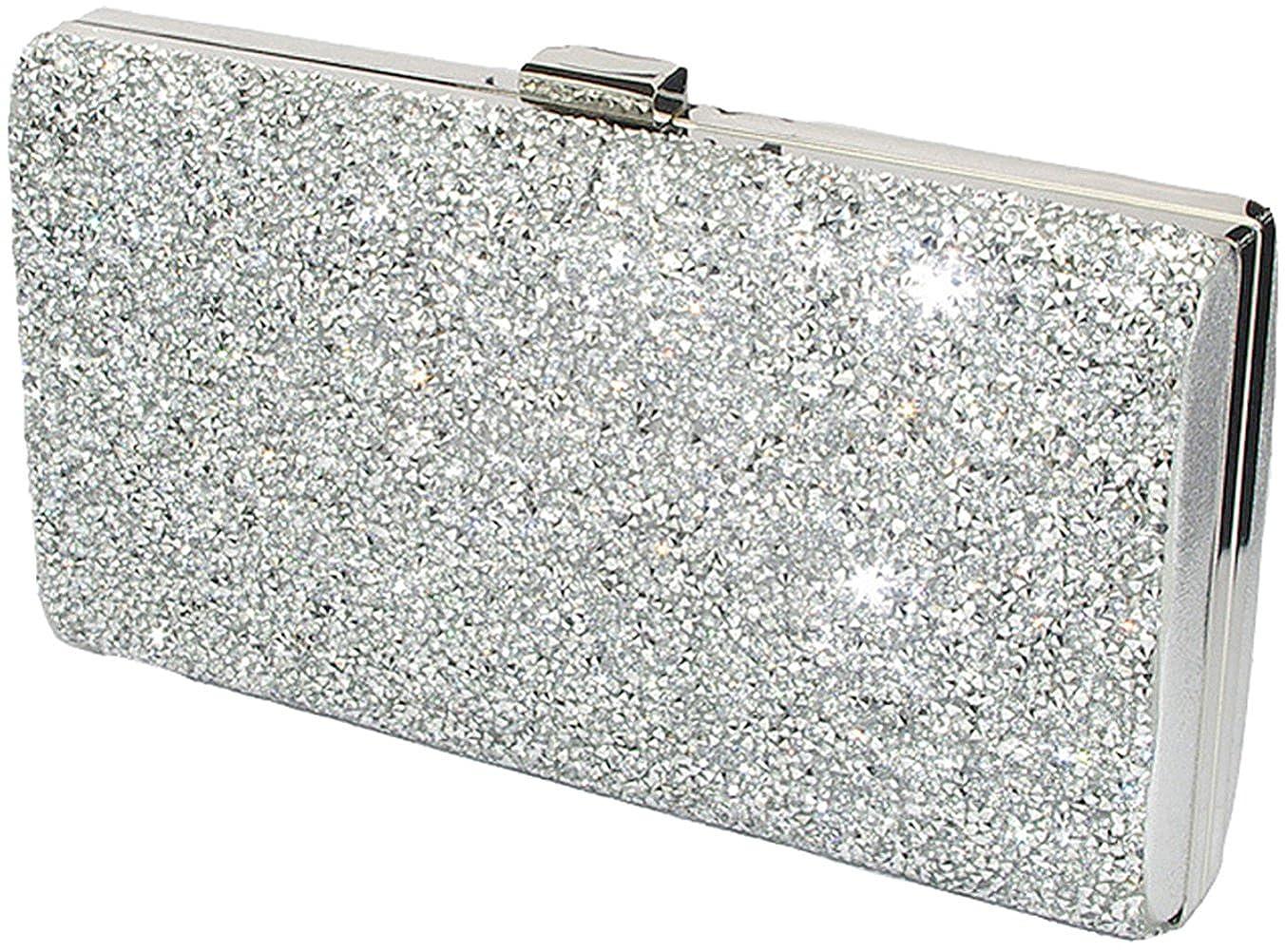 5565588f05 Covelin Women's Handbag Envelope Rhinestone Evening Clutch Bag Hot Silver:  Handbags: Amazon.com
