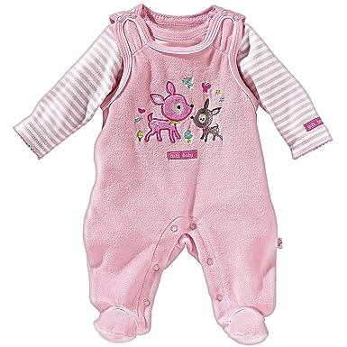 Größe 40 8fd08 d4c98 Bornino Baby Strampler Set 2-TLG. / Nicki  Strampler/Baumwoll-Langarmshirt/Mädchen/rosa