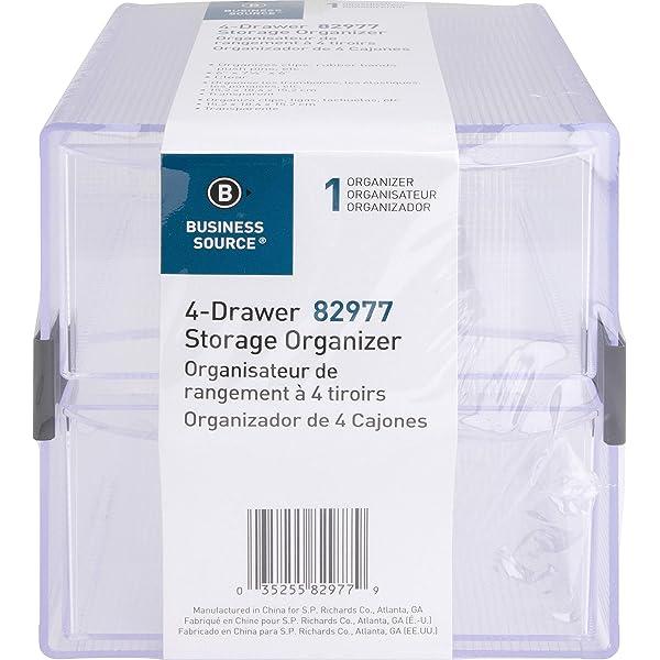 SPR82980 Sparco Storage Organizer Richards Company S.P Clear 6 x 6 x 6 Inches