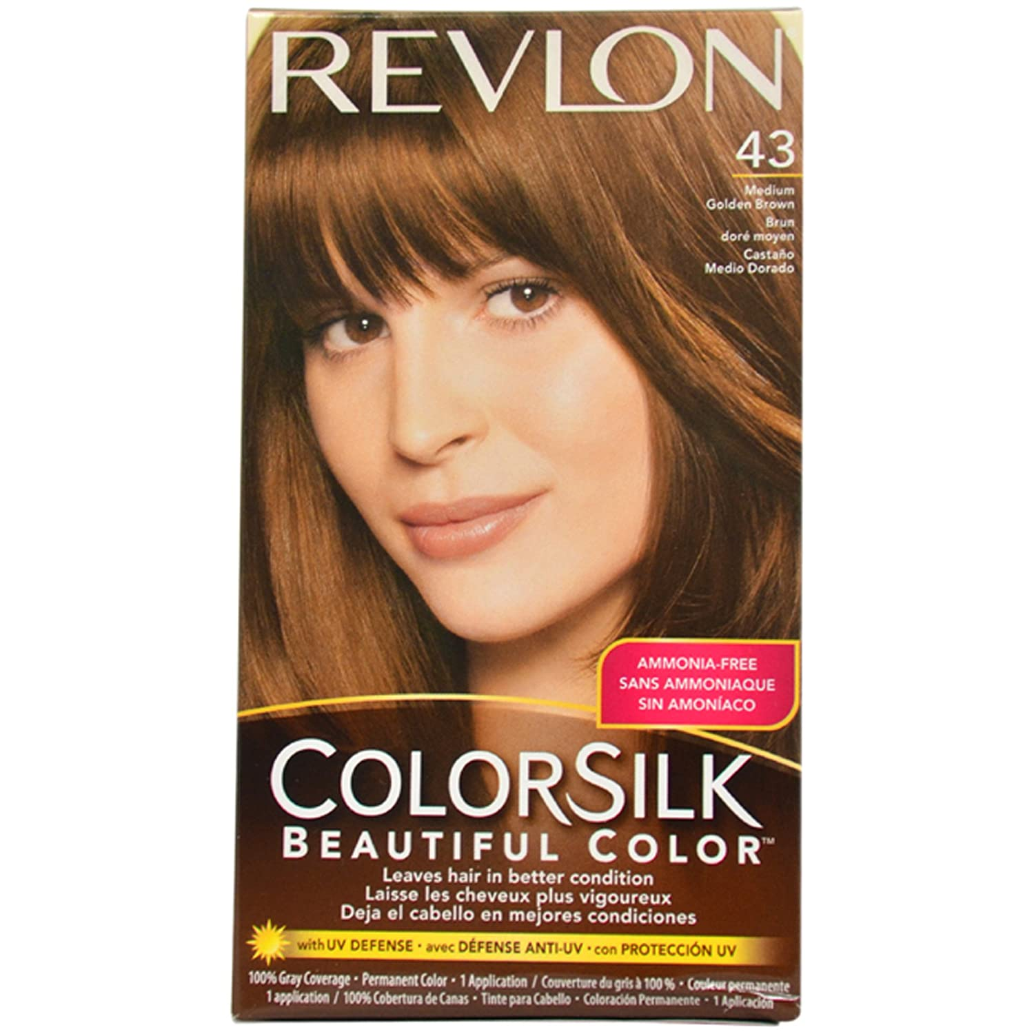 Revlon Colorsilk Beautiful Color, Medium Golden Brown 43