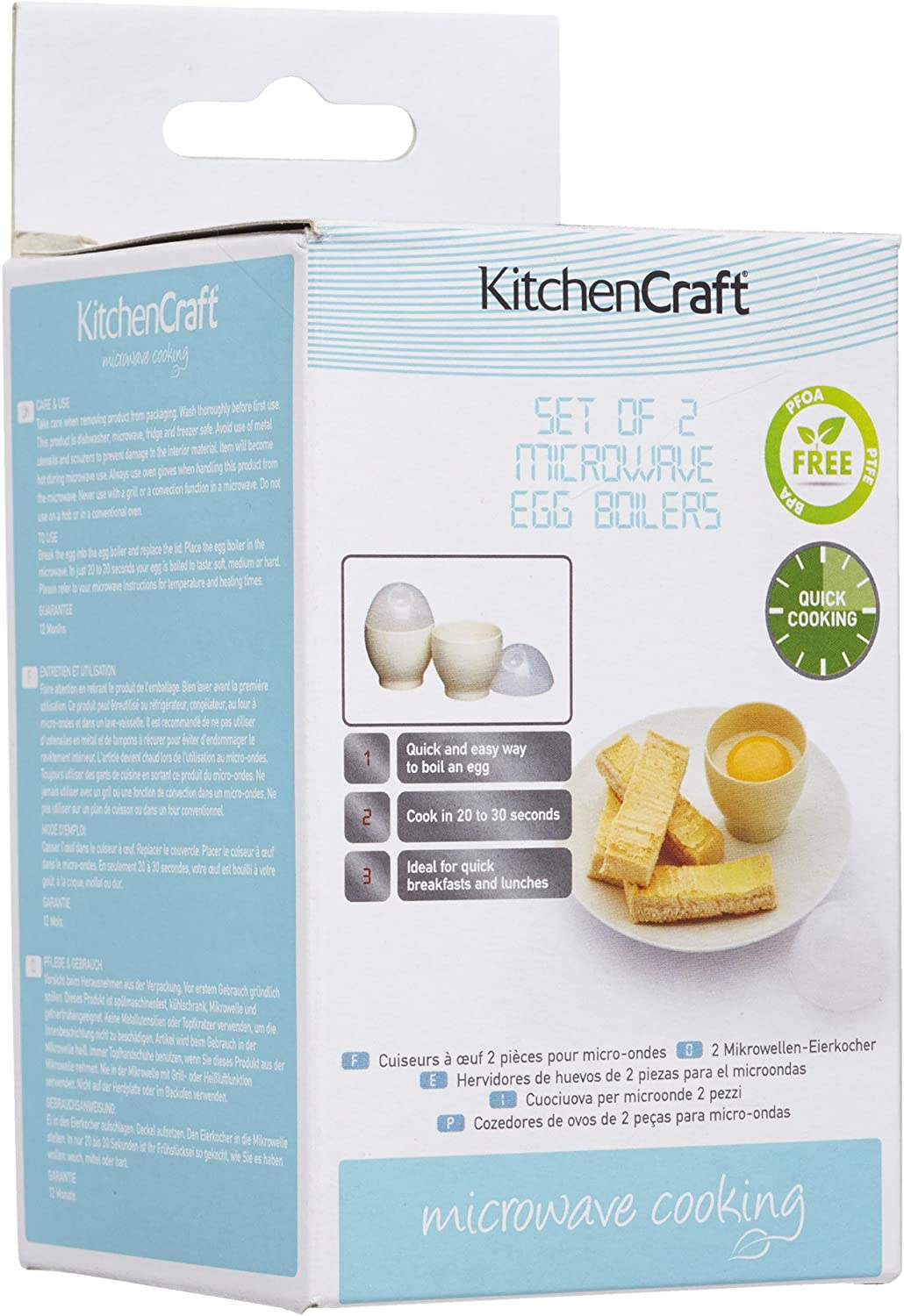 Kitchen Craft Set Of Two Microwave Egg Boilers