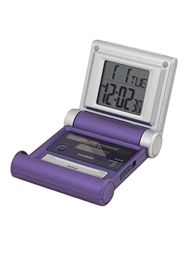 CASIO DQS-20-8D - Reloj Despertador SOLAR digital violeta: Amazon.es: Relojes