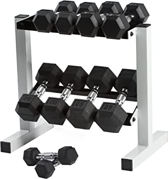 CAP 150 lb Rubber Hex Dumbbell Weight Set