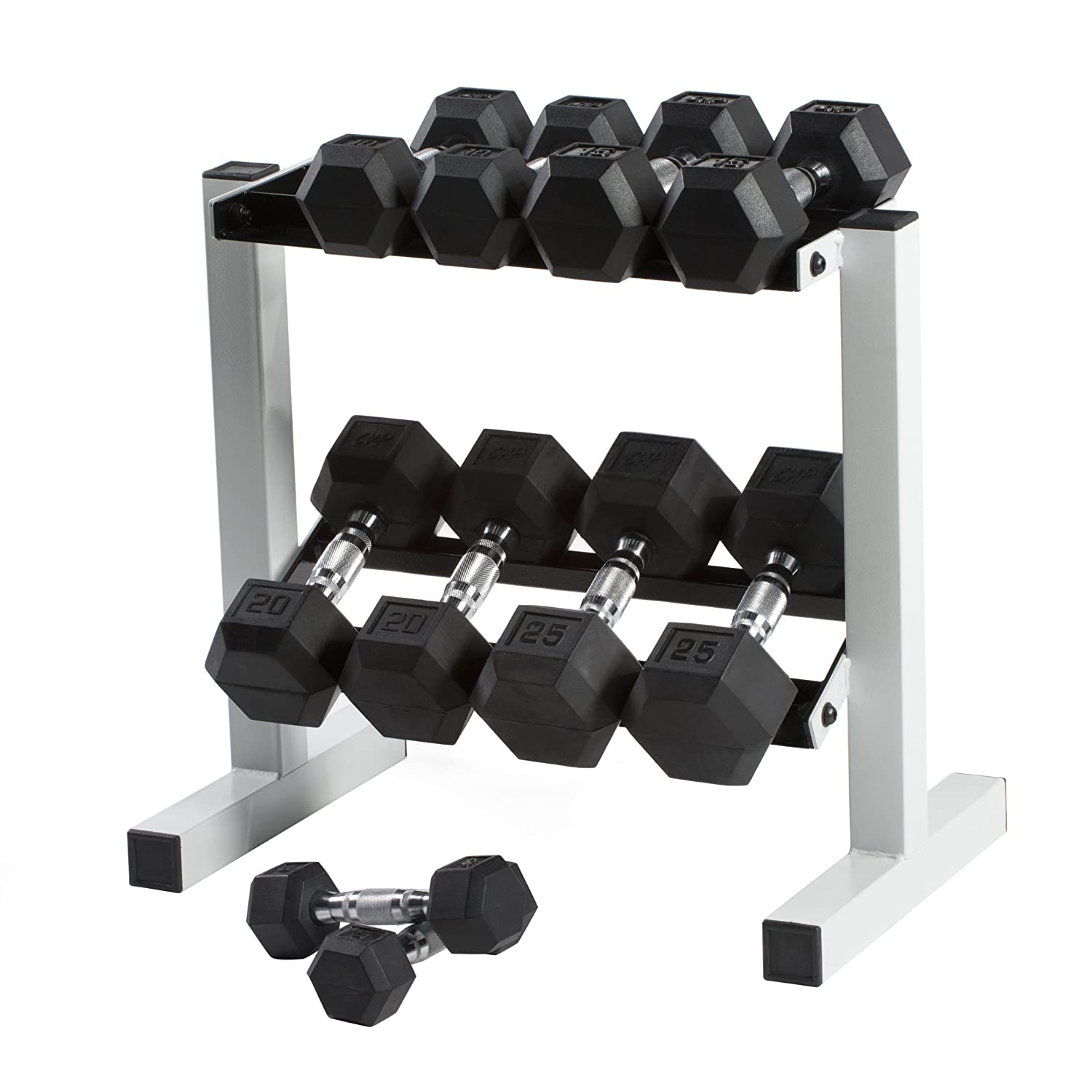 Cap Barbell Rubber Hex Dumbbell Set, 150-Pound: Amazon.es: Deportes y aire libre