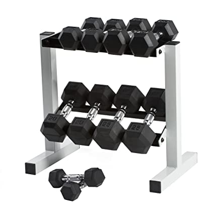 amazon com cap barbell rubber hex dumbbell set 150 pound sports