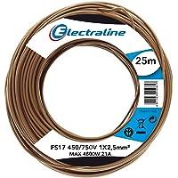 Electraline 13152Cable unipolar FS17, sección 1x 2.5mm², Amarillo/Verde