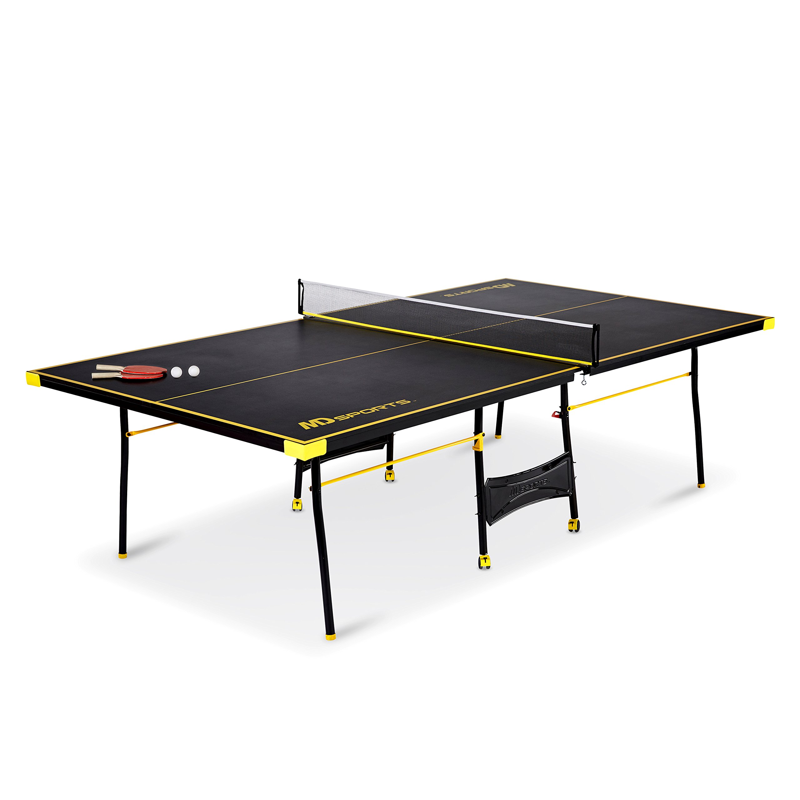 MD Sports Official Size Table Tennis Table, with Paddle and Balls, Blue White Misc.