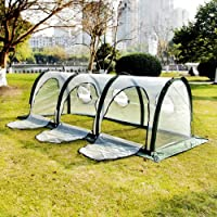 3x1x1M Portable Tunnel Greenhouse Plant Shed Foldable Insect Screen Green House