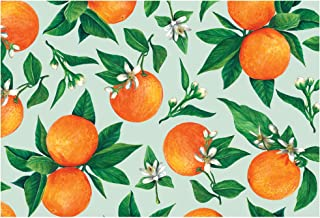 product image for Hester and Cook Disposable Paper Placemats - Orange Orchard 24 Sheets - American Made
