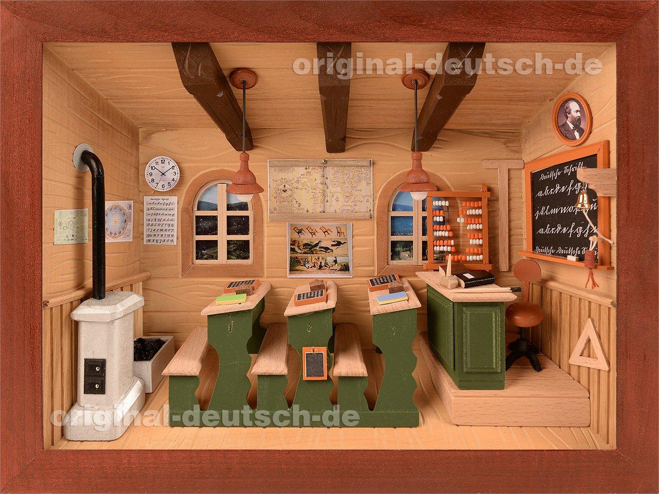 Amazon.de: 3D Holzbild Klassenzimmer, lasiert - Geschenk für Lehrer ...
