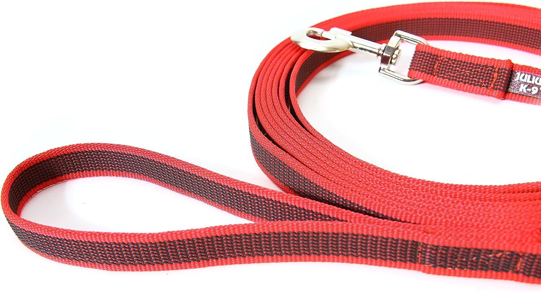 20 mm x 15 m Black-Gray Julius-K9 216GM-S15 Color /& Gray Super-Grip Leash with Handle