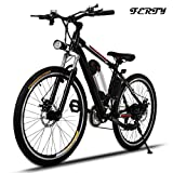 Ferty 2017 New Electric Mountain Bicycle with Removable Large Capacity Lithium-Ion Battery Speeds System Bike [US STOCK]