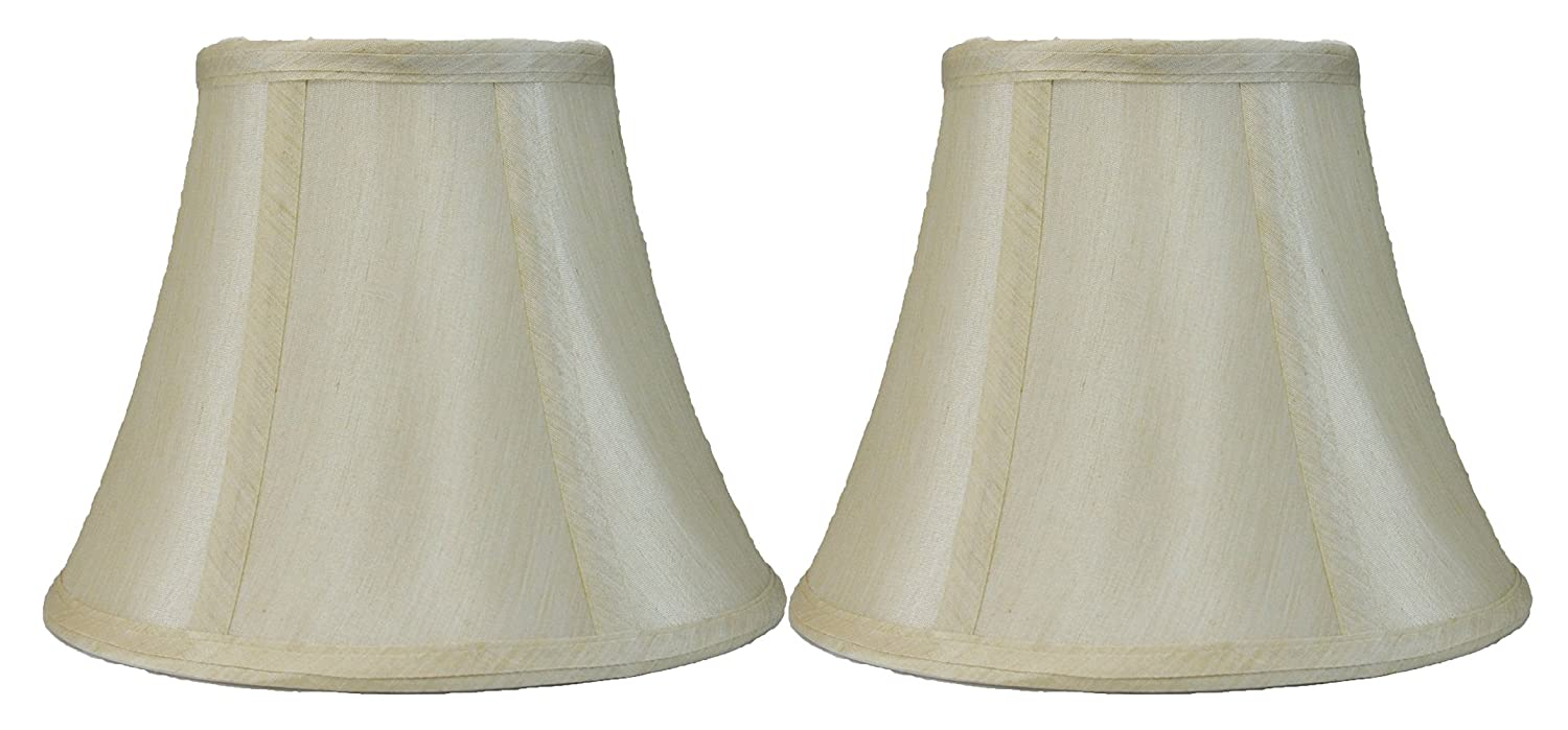 Spider-Fitter Cream 5-inch by 9-inch by 7-inch Faux Silk Urbanest Softback Bell Lampshade