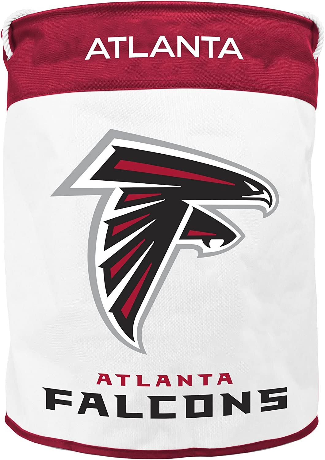 NFL Atlanta Falcons Canvas Laundry Basket with Braided Rope Handles