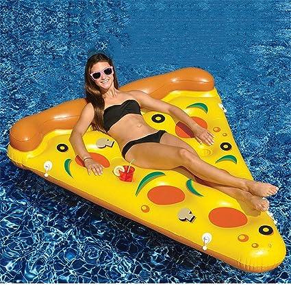 JX-WATER FLOATS PVC Agua Hinchable Pizza Fila Flotante Deportes ...