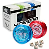 2 Legendary Yomega Spinners The Original Yoyo With A Brain And Fireball Transaxle Yo-Yo. Perfect Gift For Kids, Beginner, Int