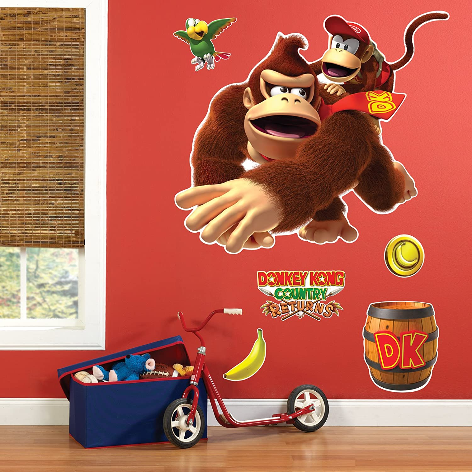 Amazon com donkey kong giant wall decals toys games