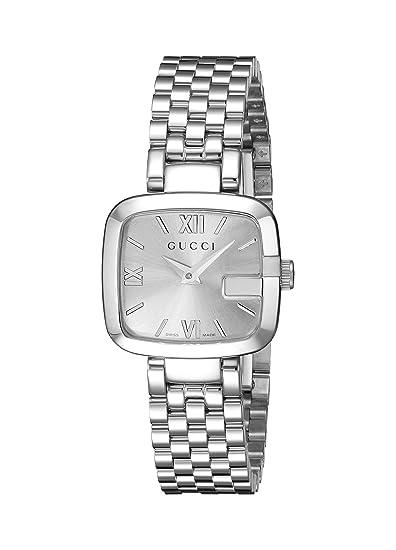 Gucci YA125517 - Reloj de cuarzo para mujer, con correa de acero inoxidable, color