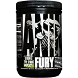 Animal Fury Pre-Workout Energy Supplement with Amino Acids, Green Apple 30 Servings