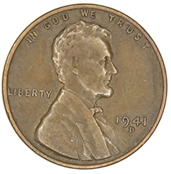 1941 D Lincoln Wheat Penny Good at Amazon's Collectible