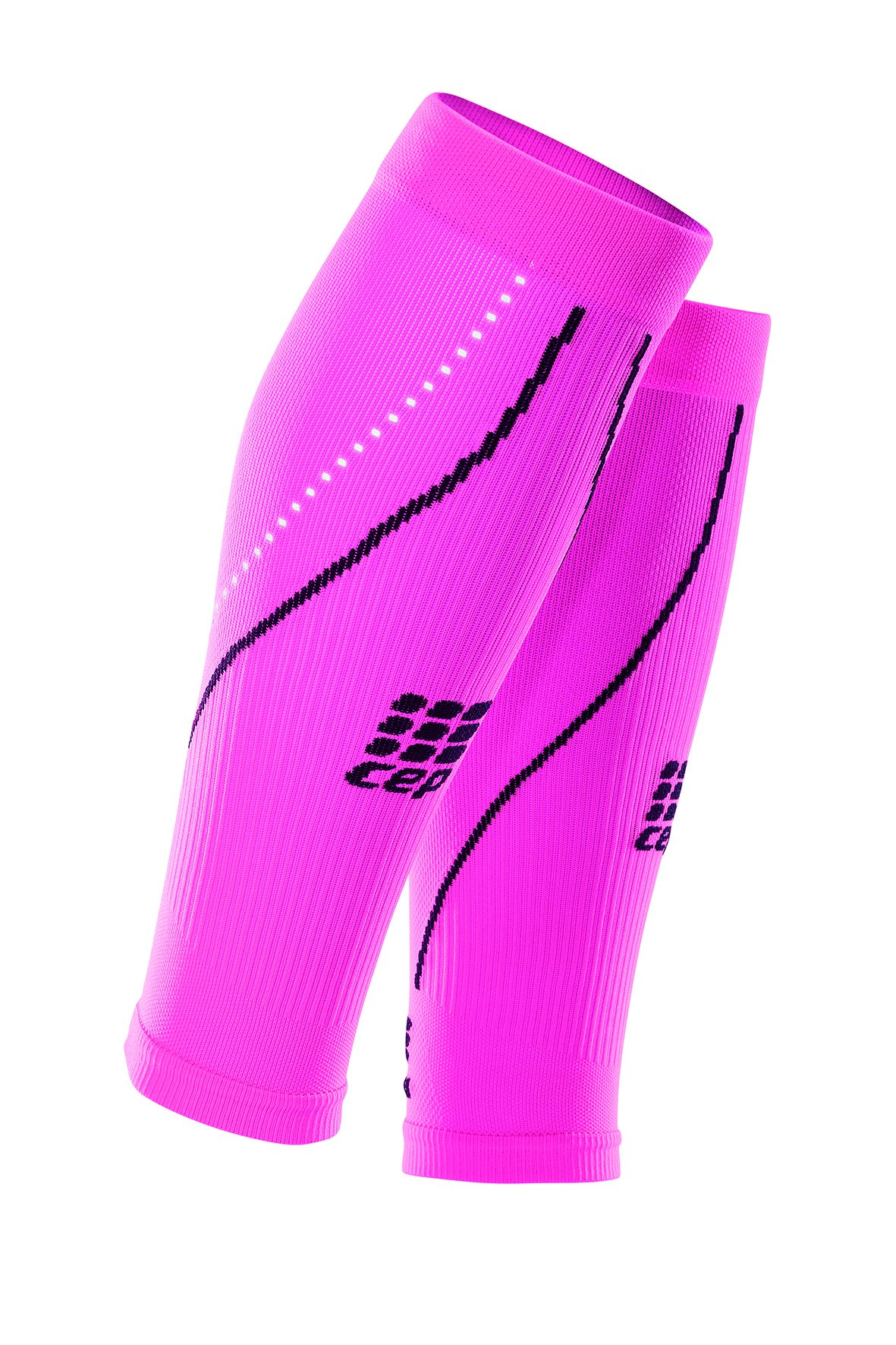 CEP Progressive+ Night Compression Calf Sleeves 2.0, Flash Pink/Black, Women, Size 4