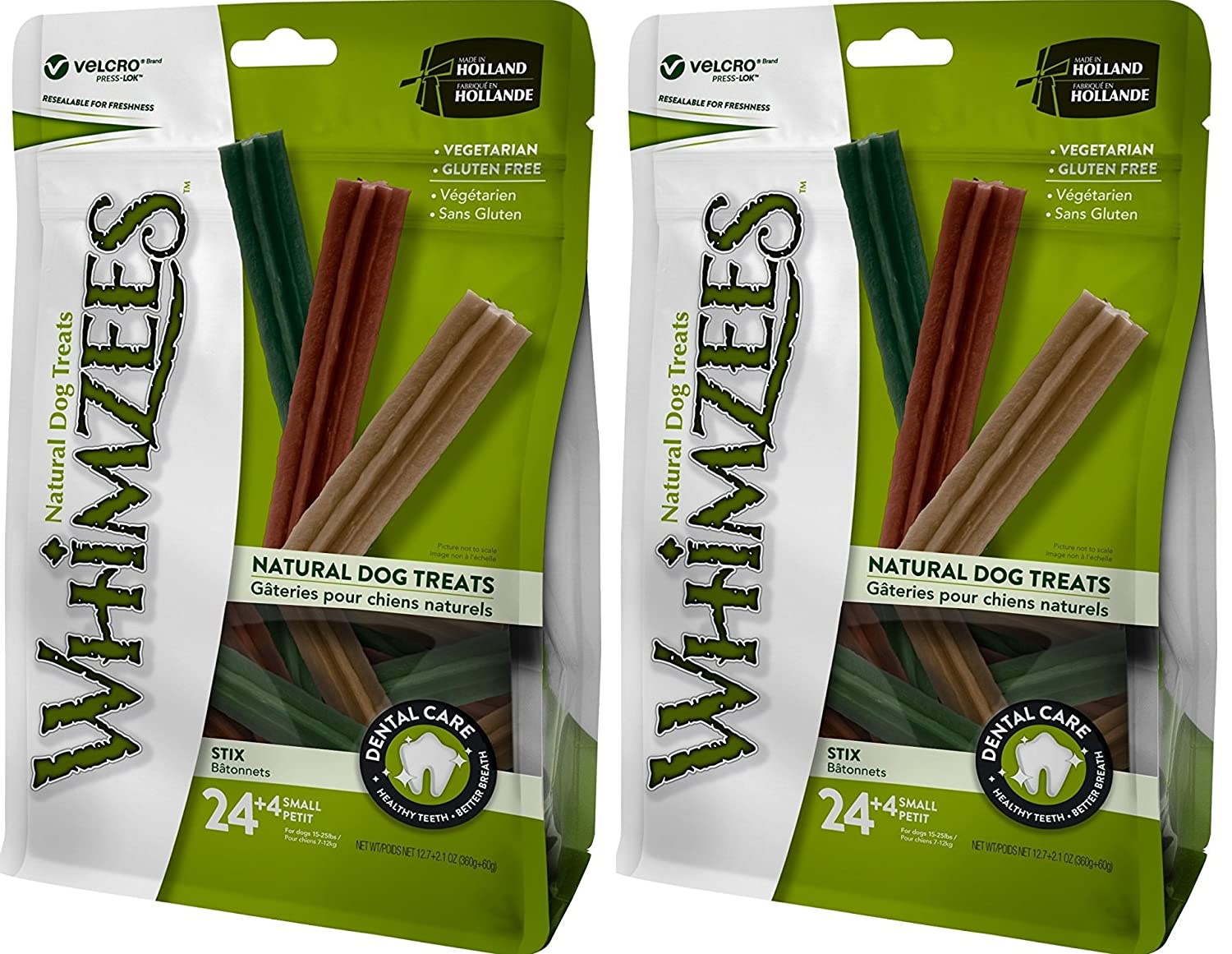 (2 Pack) Whimzees Natural Grain Free Dental Dog Treats, Stix