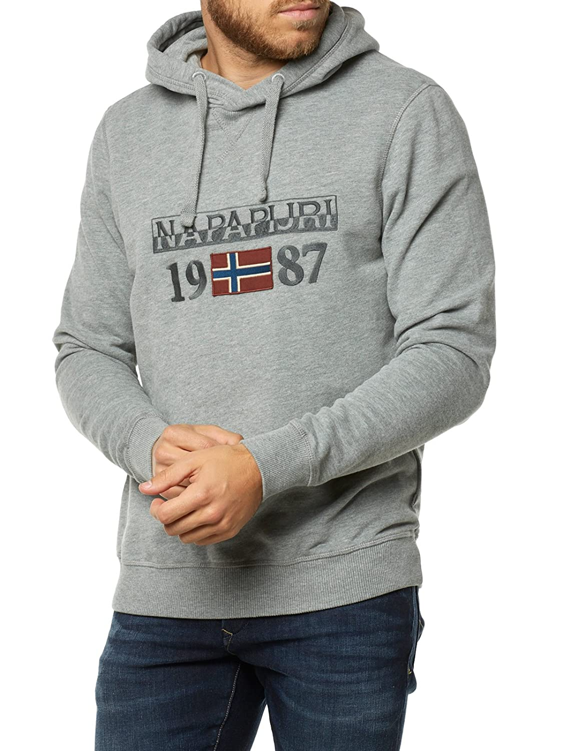 gris 3XL Napapijri Berthow Sweat-Shirt Homme