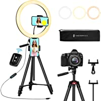 TaoTronics 12' Ring Light, Selfie Ring Light with 3 Color Modes, Adjustable Brightness, Extendable…