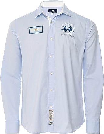 La Martina Hombres Ajuste Regular okledi Oxford Camisa Azul L: Amazon.es: Ropa y accesorios