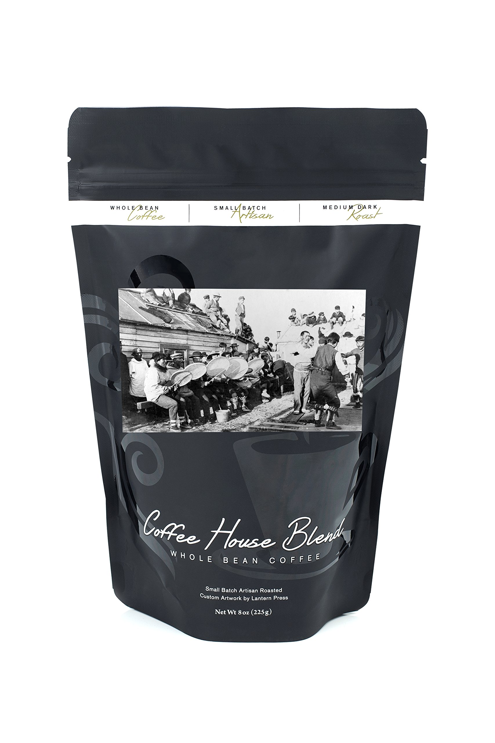 Ceremonial Eskimo Dance in Nome, Alaska Photograph (8oz Whole Bean Small Batch Artisan Coffee - Bold & Strong Medium Dark Roast w/ Artwork)