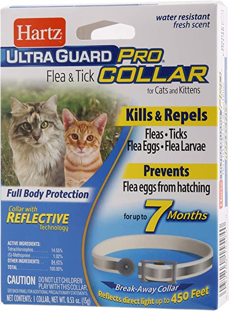 Hartz UltraGuard Pro Flea & Tick Collar for Cats and Kittens, 7 Month Flea and Tick Prevention and Protection, 1 Collar
