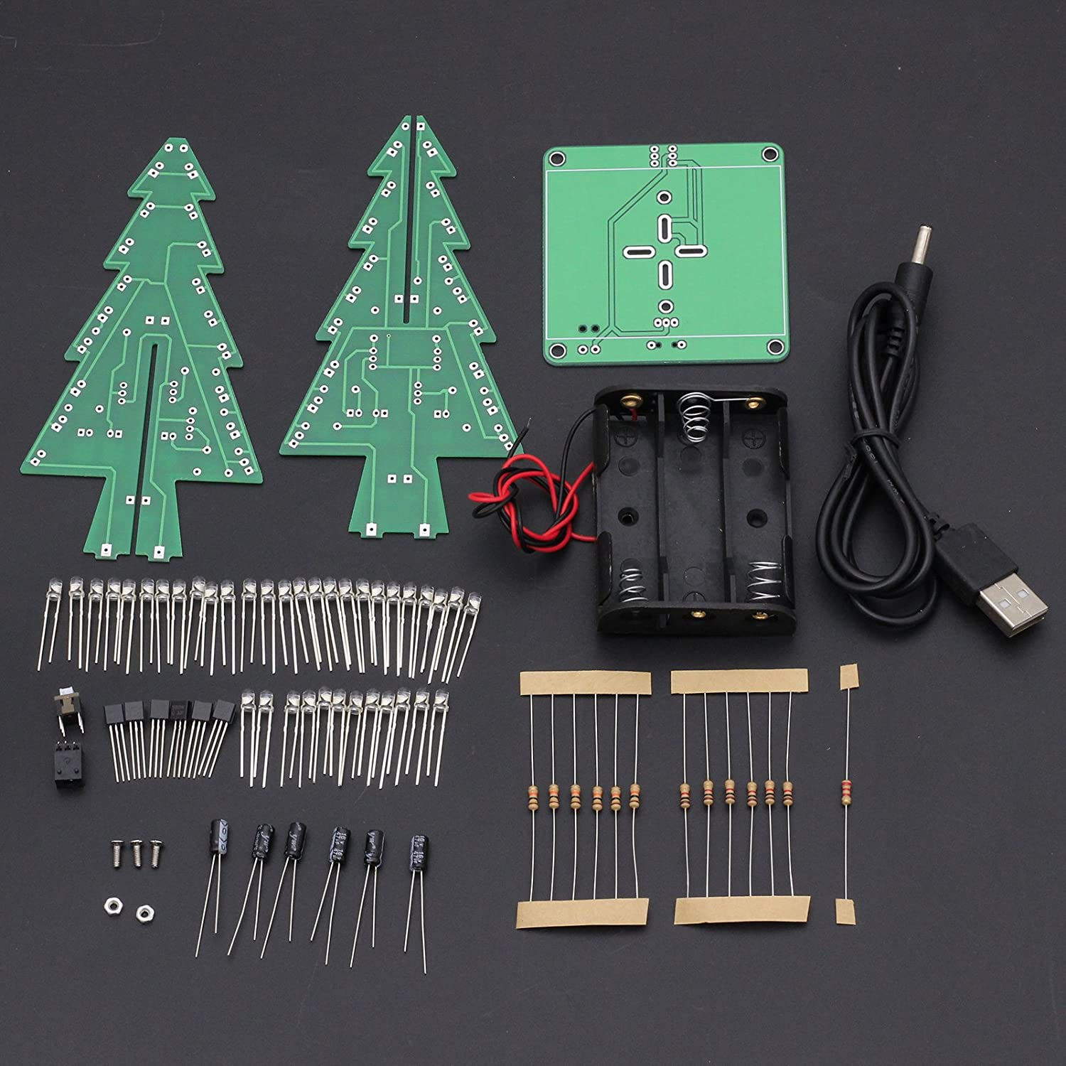 Amazon Icstation DIY 3D Christmas Tree Assemble Kit with 7