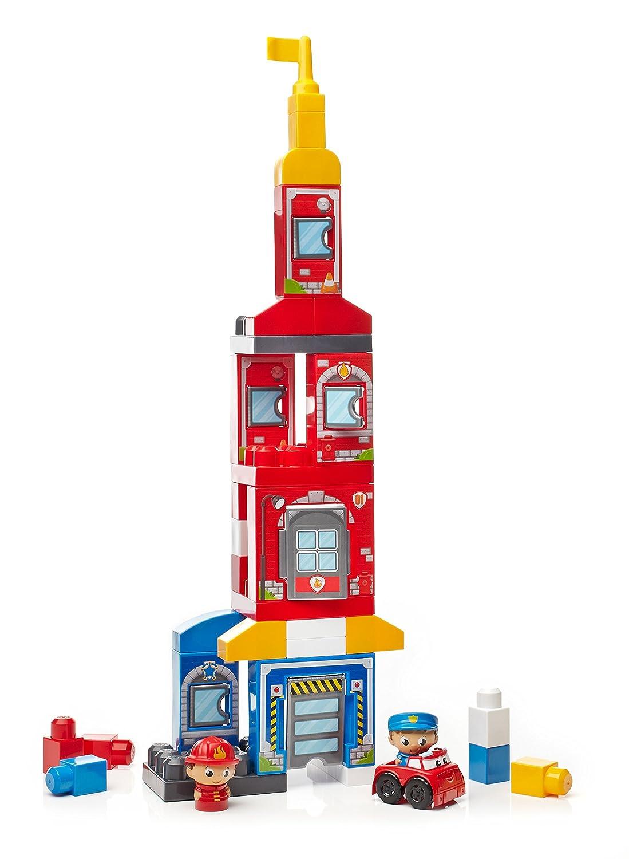 Mattel Mega Blocks Rettungsstation Polizei mit Feuerwehr