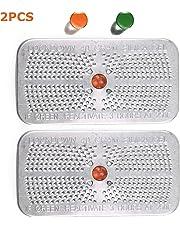Indicating Silica Gel Desiccant Canister Dehumidifier, 40 Gram, 2 Packs, Orange Indicating (Orange to Dark Green) Desiccant, Reusable and Safe Moisture Absorber Bag, No Cobalt II Chloride