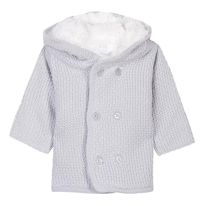 Absorba Boutique Tricot, Abrigo Unisex bebé, (Gris Clair 21), 6 Mes