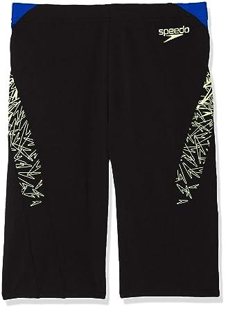 4cd62e2232 Speedo Men's Boom Splice' Aqua Shorts, Black/Bright Zest/Chroma ...