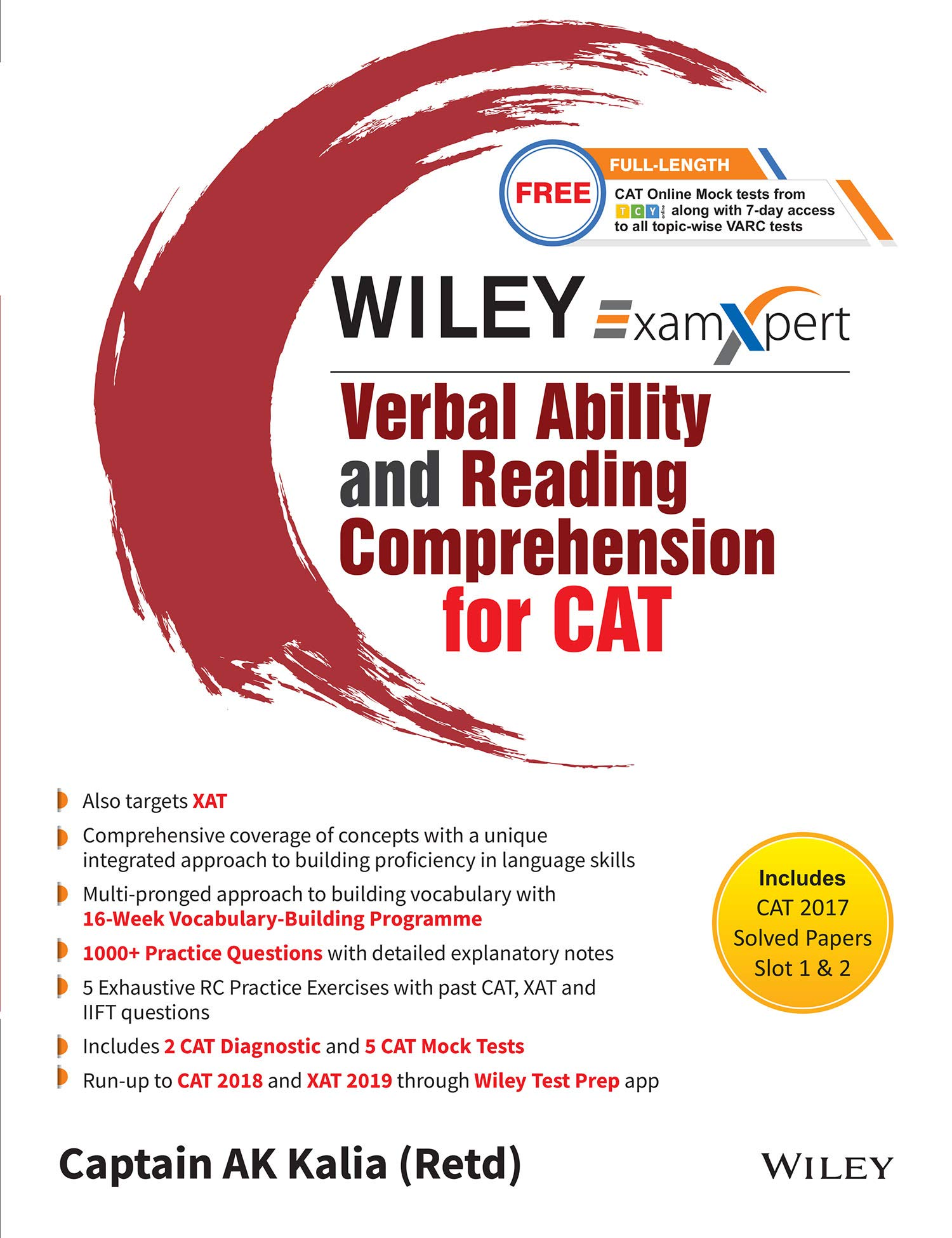 Buy Wiley's Exam Xpert Verbal Ability and Reading Comprehension for CAT  Book Online at Low Prices in India | Wiley's Exam Xpert Verbal Ability and  Reading ...