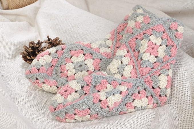 Calcetines Tejidos A Ganchillo De Lana Artesanales Poco Comunes Talla 37-39: Amazon.es: Ropa y accesorios