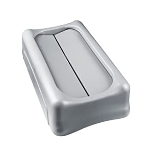 Rubbermaid Commercial Slim Jim Swing Lid , Gray (FG267360GRAY)