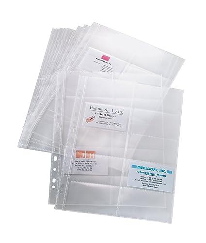 SIGEL VZ351 - Funda de tarjetas de identificación (10 unidades), transparente